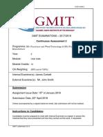sample assessment cadcam ca2