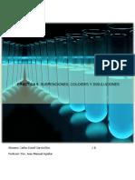 Practica SUSPENCIONES, COLOIDES Y DISULUCIONES quimica