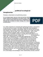 Radical Urban Political Ecological Imaginaries