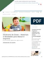 Síndrome de Down - Materiais e Atividades Para Baixar e Imprimir - Blog PsiquEasy