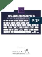 Premiere Pro Keyboard Shortcuts Cheatsheet Print Ready a4