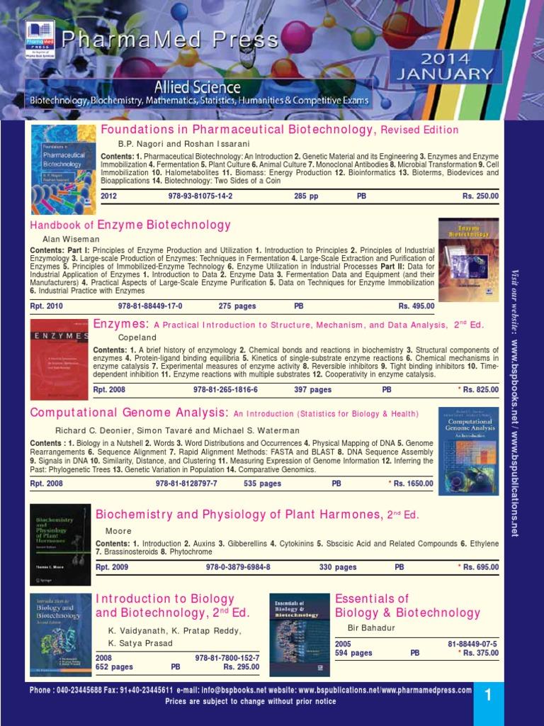 Biotechnology Biochemistry | Enzyme | Analysis Of Variance