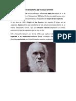 Micro Biografia de Charles Darwin