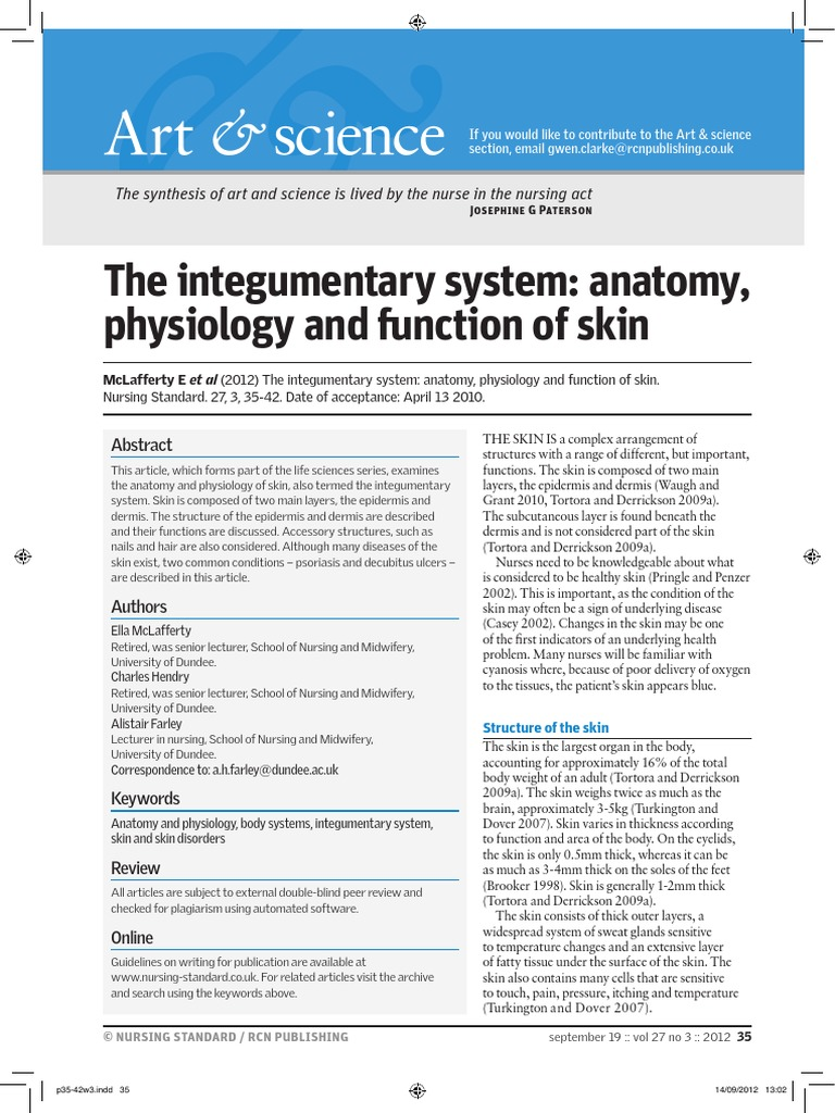 Integumentary, Anatomy, Function | Skin | Integumentary System