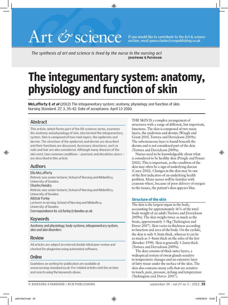 Integumentary, Anatomy, Function | Skin | Integumentary System
