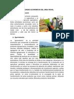 Actividades Económicas Del Área Rural