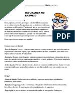 Regras de Seguranc3a7a No Laboratc3b3rio