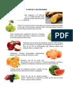 10 Frutas y Sus Proteínas