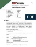Sílabo Fundamentos de Medicina Veterinaria. UAP