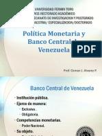 Política Monetaria y BCV