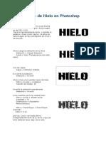 013 Texto de Hielo en Photoshop