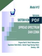 Modul 13 Siskom2 Spread Spectrum&CDMA