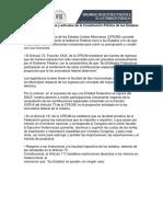 Facultades Tributarias y Artículos de La Constitución Política de Los Estados