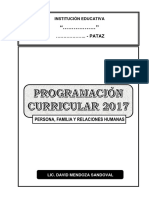 Pfrh 2017. 1ro a 5to. Unidades y Anuales