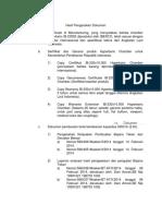 Hasil Pengecekan Dokumen