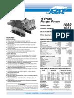8. 1050 Pump Data Sheet