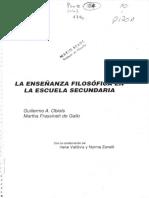 Obiols g de Gallo f 1993 La Ensec3b1anza Filosc3b3fica en La Escuela Secundaria Buenos Aires a z Editora