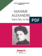 Maxime Alexandre - Sans Feu Ni Lieu