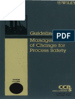 Guidelines for Management of Change for Process Safety - Libro Completo