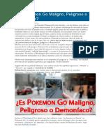 Es Pokemon Go Maligno