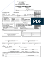 Application for Building Permit (for Building Permit)