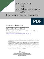 Teorema de Ascoli. Ambrosetti