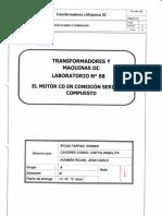 Laboratorio 7 Motores DC Conexion Compuesto y en Serie