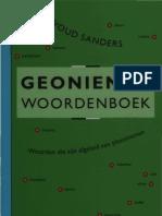 1996 Sanders, Ewoud Geoniemenwdb (2ed)