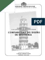 Confiabilidad en El Diseño en Geotecnia by Carlos Crespo