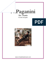 Nicolo Paganini - 6 Duets for Violin & Guitar (M.S. 110)