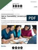 Qué Es 'Learnability', La Nueva Palabra de Moda