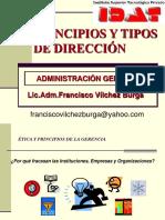 Principios y tipos de dirección