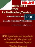 LOS MEDIOS DE LA DIRECCIÓN La Motivación,Teorías