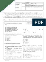 Sustitutorio Examen Trimestral de Lenguaje - Cuarto de Secundaria