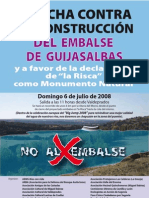 cartel marcha contra embalse