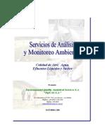 SERVICIOS DE ANALISIS Y MONITOREO AMBIENTAL