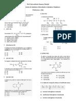 8a Lista de Exercícios - Introdução à Química Orgânica