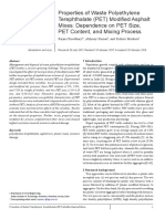 Properties of Waste Polyethylene Terephthalate (PET) Modified Asphalt Mixes - Dependence on PET Size, PET Content, and Mixing Process.pdf