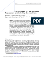 The Utilisation of Shredded PET as Aggregate Replacement for Interlocking Concrete Block.pdf