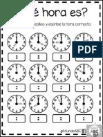 Actividades Para El Uso Del Reloj