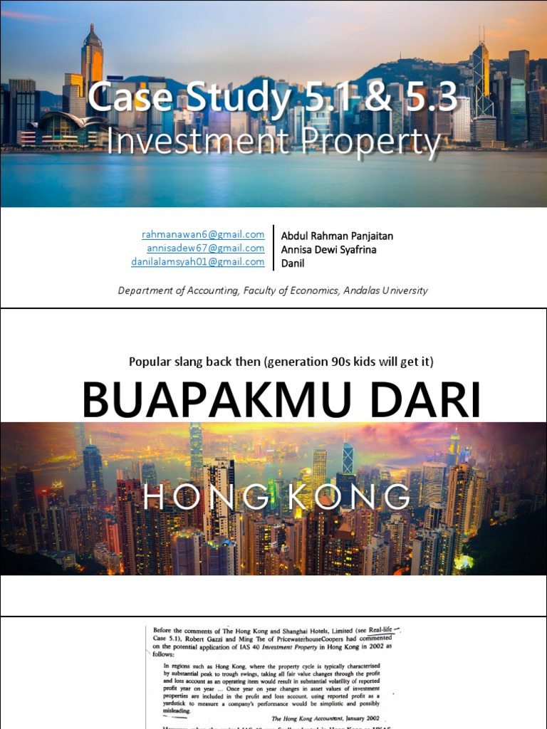 Team 4 - [Case Study 5-1 and 5-3] Investment Property