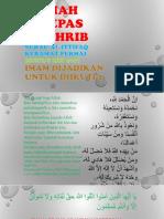 Kuliah Selepas Maghrib Surau Al-Ittifaq_Imam Dijadikan Untuk Diikuti 2_8 Mei 2017_M Hidir Baharudin