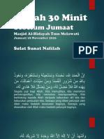 Kuliah 30 Minit Sebelum Jumaat_18 November 2016_Masjid Al-Hidayah Taman Melawati_M Hidir Baharudin