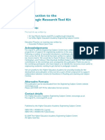 Introduction to the Pedagogic Research Tool Kit