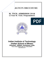ISM MTech InformationBulletin