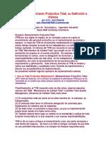 Mantenimiento Productivo Total.doc