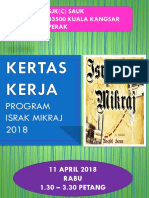 Buku Program Israk Mikraj 2018
