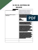 Fallas en El Sistema de Escape 1 Fin