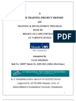 Training and Development in BHARTI AXA Life Insurance