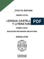 Programación Anfora Cota Lengua y Literatura 1 ESO Andalucia